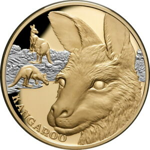 Niue 2021 Kangaroo Wildlife Up Close $100 1 Troy Oz Pure Gold Proof in FULL OGP