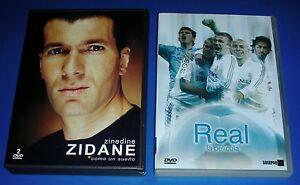 ZIDANE-2-DVDs-Como-Un-Sueno-Real-SPANISH-only-pas-sous-titres-francais