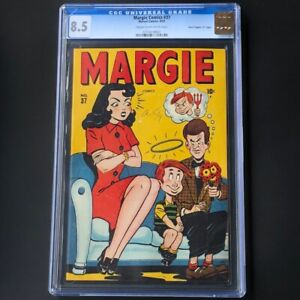 Margie-Comics-37-1947-CGC-8-5-Davis-Crippen-Pedigree-2ND-HIGHEST-Marvel
