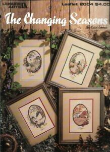 The-Changing-Seasons-in-Cross-Stitch-Leisure-Arts-2004-Summer-Spring-Winter-Fall