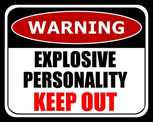 Avertissement explosif personnalité Keep Out adolescent CHAMBRE plaque métal signe 2566