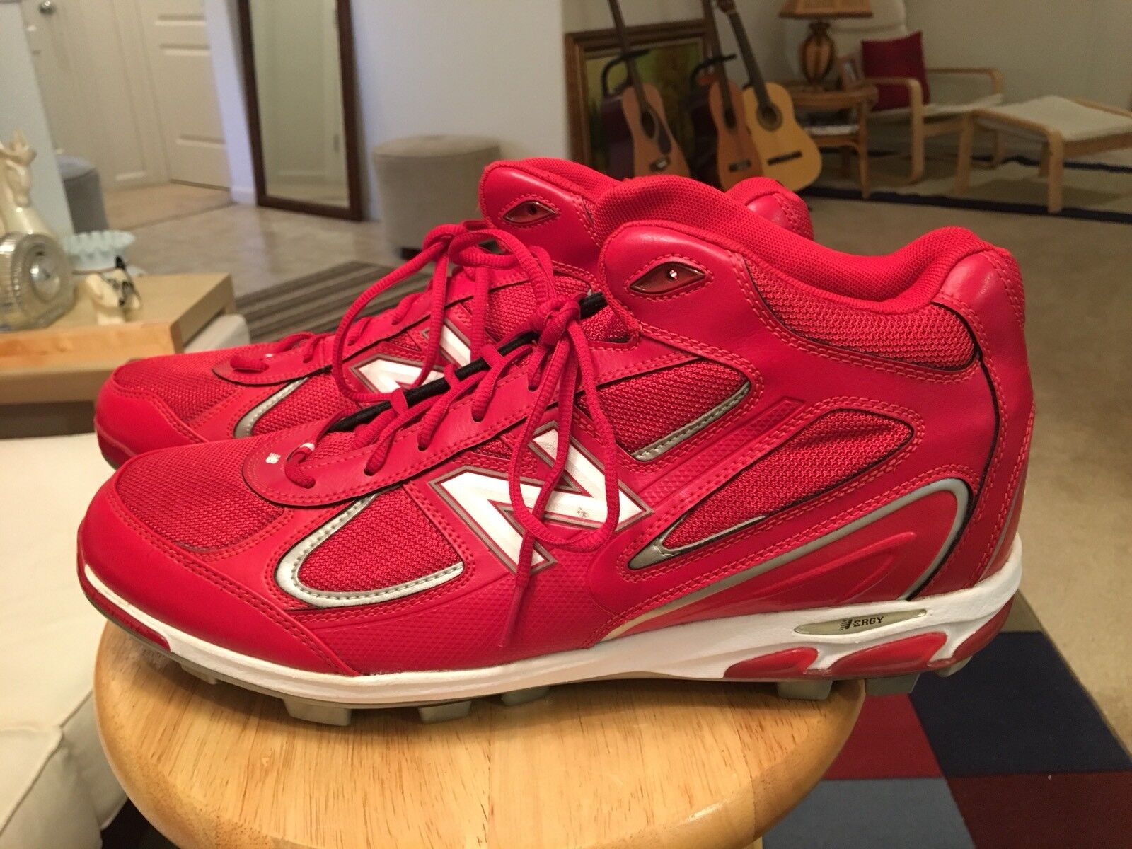 New Balance Red Men's US16.0 Baseball Cleats shoes