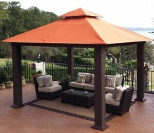 Image Is Loading Outdoor Permanent Gazebo Large 12x12 Garden Metal Sun