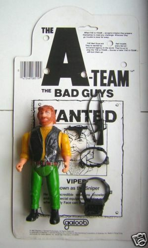 1983 The A-Team Bad Guys - 6  Action Figure - VIPER with Weapons (A1)