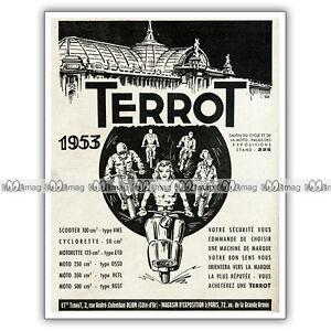 Pub Terrot Scooter & Motos - Original Ad / Publicité De 1952 Xntintag-07155203-431446783