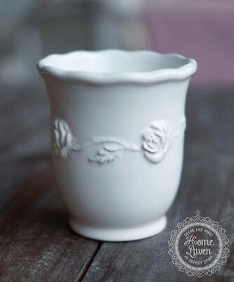Badzubehör & -textilien Genossenschaft Zahnputzbecher 'juliet' Keramik Weiß Bad Romantisch French Vintage Shabby Möbel & Wohnen