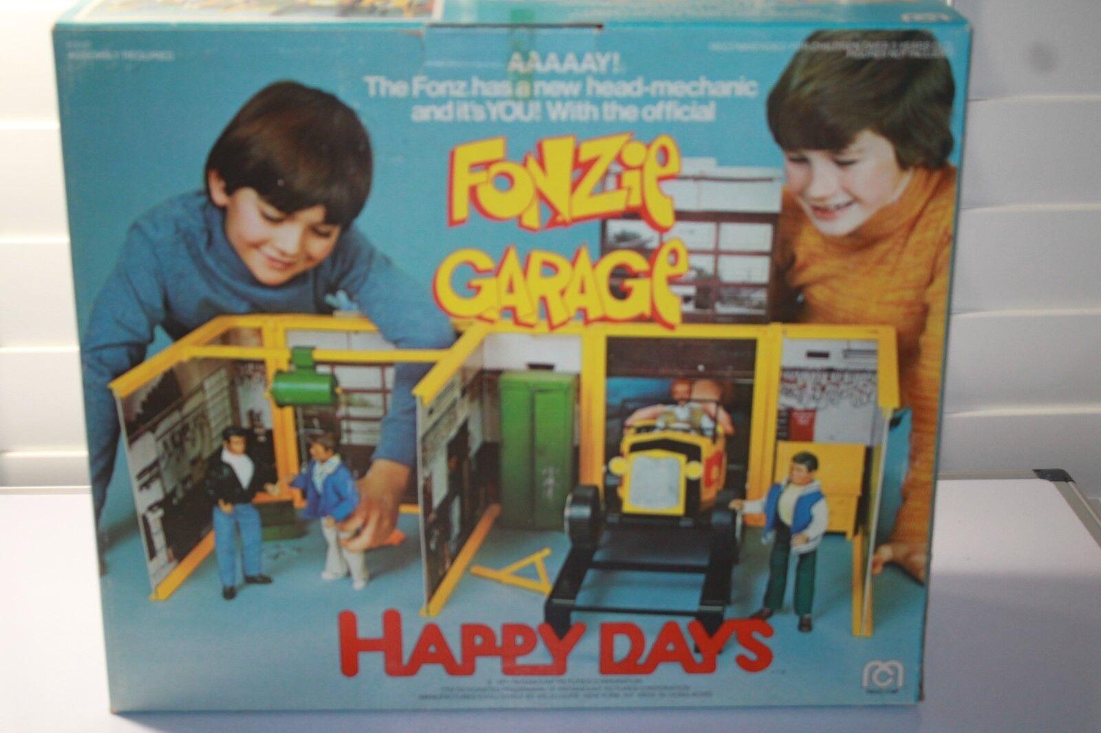 MEGO HAPPY DAYS  FONZIE GARAGE NEW IN OPEN BOX UNUSED COMPLETE RARE