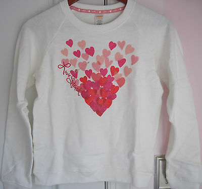 M S 10-12 5-6 NWT Gymboree Girl Pullover Hearts//Valentine Sweatshirt L 7-8