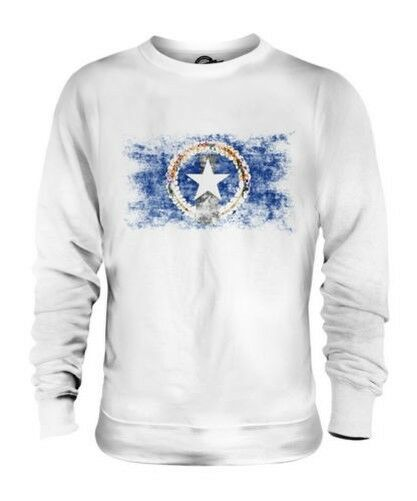NORTHERN MARIANA ISLANDS DISTRESSED FLAG UNISEX SWEATER TOP MARIANAN SHIRT GIFT