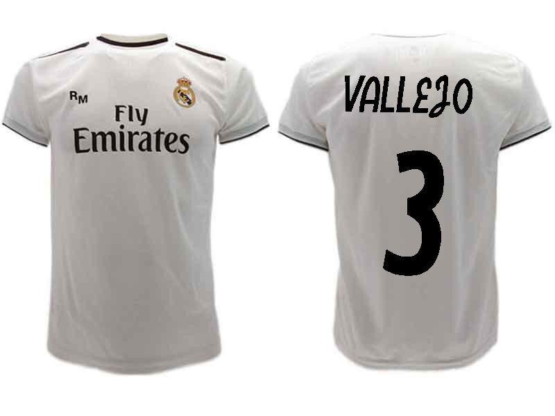0cca87049 Maglia Ufficiale VALLEJO Real Madrid JESUS Ufficiale n.3 Camiseta 2018-2019