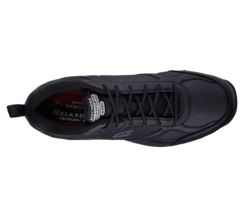 Trabajo Skechers Espuma Cómodo Zapatos Negro Hombre Viscoelástica 77111 qZwX4vxTx