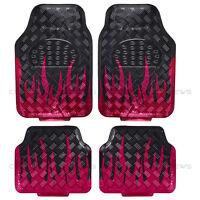 Flame Metallic Rubber Floor Mats Set 4pc Car Interior Set Hd Auto Accessories on Sale