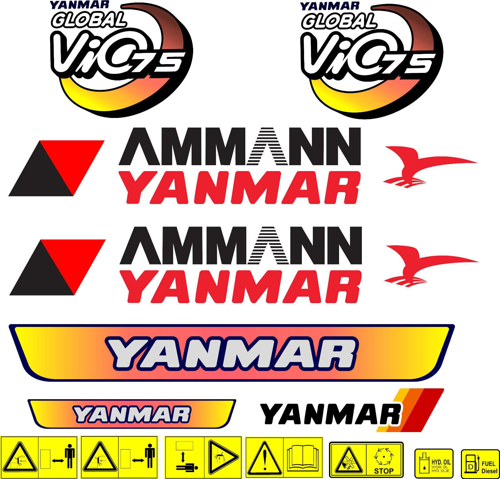 Ammann Yanmar B17 Sticker decal aufkleber