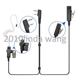 2-wire Surveillance Earpiece For Kenwood TK3400 TK3402 TK3302 TK3312 Radio