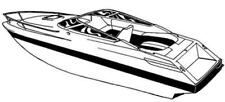 7oz STYLED TO FIT BOAT COVER GLASTRON 1700 I/O 1991-1992