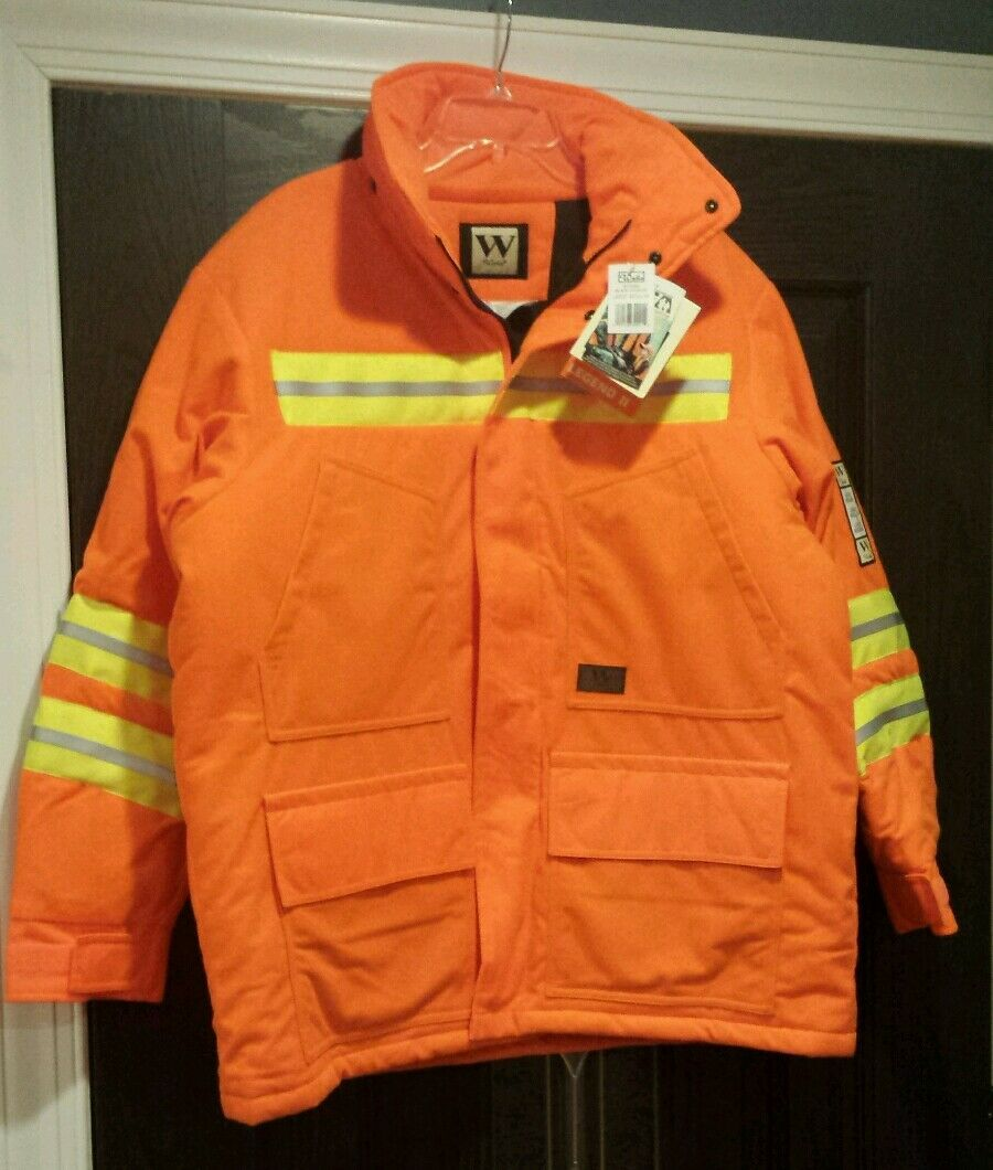 NEW Walls Legend ll Men's Parka, Blaze orange- Size  Large  fast shipping