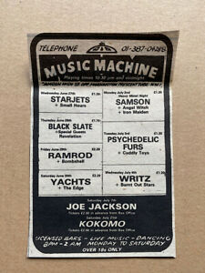IRON MAIDEN/OTHERS MUSIC MACHINE(B) MEMORABILIA Small original music press adver