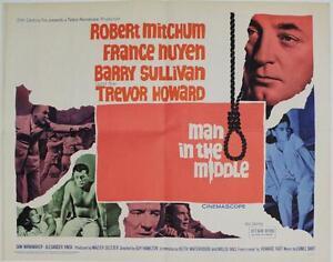 Man-in-the-Middle-1964-Original-Half-Sheet-22x28-034-Robert-Mitchum