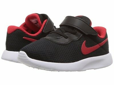 TDV Toddler Black//Black 818383-001 Hook and Loop Strap Shoes Nike TANJUN