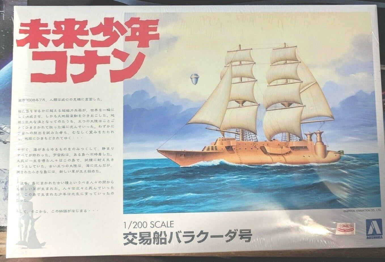 Aoshima Models 1 200 Barracuda Ship - Conan, The Boy in Future Model Kit