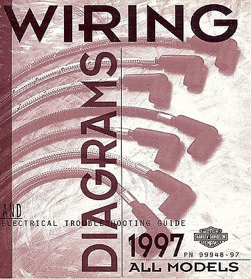 1997 Harley Wiring Diagram Schematic Electrical Troubleshooting Manual ALL  48-97 | eBayeBay