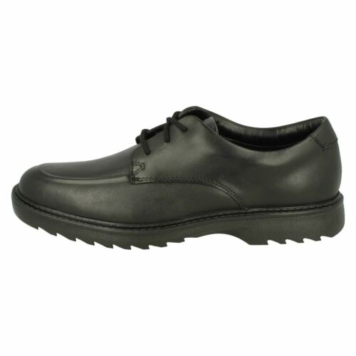 BOYS SENIOR CLARKS LEATHER LACE UP CLASSIC SMART FORMAL SCHOOL SHOES ASHER GROVE