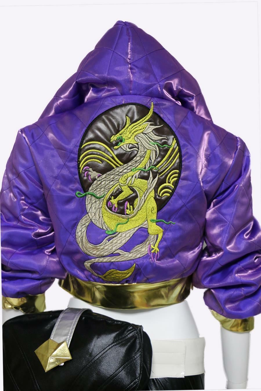 LOL KDA Akali Cosplay Costume Pop Star Coat jacket-Only coat