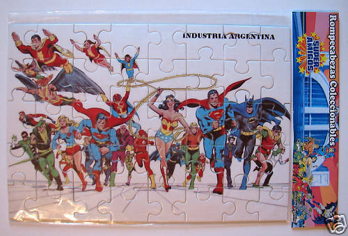 SUPER FRIENDS JUSTICE LEAGUE PUZZLE silverINA RARE MIP