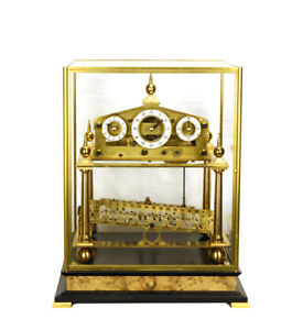 Mystery-8-DAY-Fusee-Chain-English-Congreve-Rolling-Ball-Clock-with-BELL-STRIKING