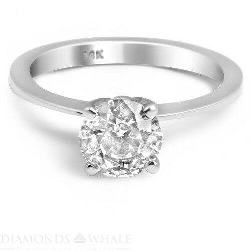 Round Solitaire Enhanced Diamond Ring 0.45 CT SI2 D White gold 18K Engagement