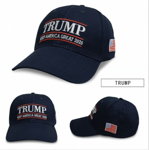 New Blue Donald Trump 2020 Cap USA Flag Camouflage Baseball Cap Embroidered Hat