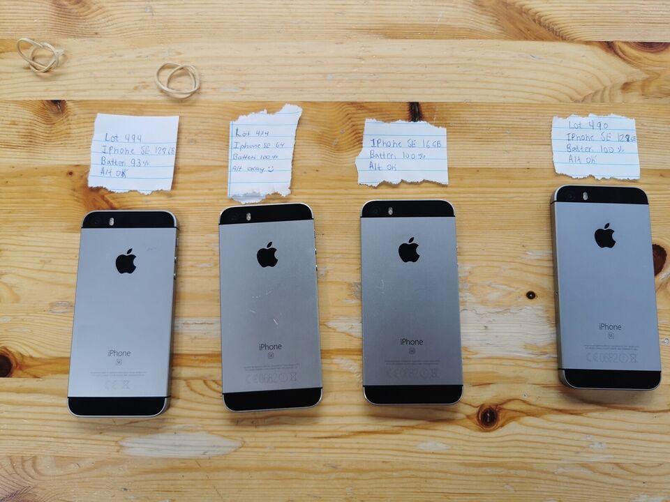iPhone SE, 128 GB, aluminium