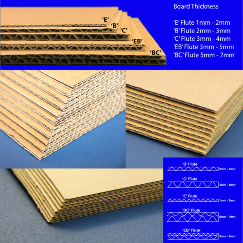 BROWN CORRUGATED CARDBOARD SHEETS A5 A4 A3 A2 A1 A0  SINGLE AND DOUBLE WALL