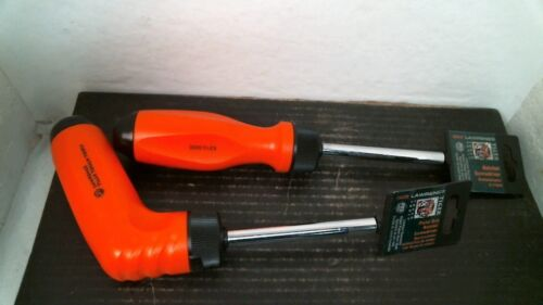 FREE SHIPPING Lawrence Tiger Tough Ratchet Screwdrivers 1 Straight /& 1 Pistol
