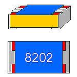 SMD-Résistance 82 Kohm 1/% 0,1 W construction compacte 0603 Ceinture
