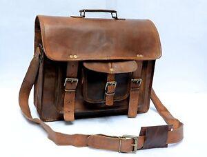GVB-Large-Real-Bull-Leather-Vintage-Messenger-Shoulder-Laptop-Bag-Briefcase