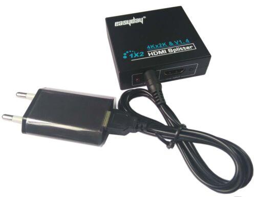 Ultra 2 Hafen HDMI Splitter Repeater Verstärker 3D 1.4v HDCP 1 Eingang 2 Ausgang
