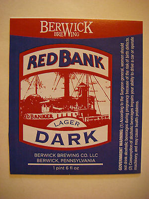 Imported From Abroad Beer Sticker ~ ~ Berwick Brewing Company Llc Red Bank Dark Lager >< Pennsylvania Waterproof Shock-Resistant And Antimagnetic Breweriana, Beer