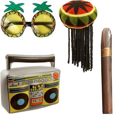 Adulto Giamaicano Rasta Cappello Con I Dreadlock Bob Marley Costume Kit-mostra Il Titolo Originale Gradevole Al Gusto