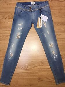 Donna Borchie 28 Jeans 29 Met Micro women strass Tg zqP4FwBW