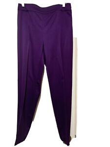 St. John Women's Purple Wool Spandex Career Dress Pants Size 4 Orig.$595