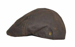 Lakota-braun-used-look-Gatsby-Flatcap-Schiebermuetze-Kappe-Duckcap-Level-by-Balke