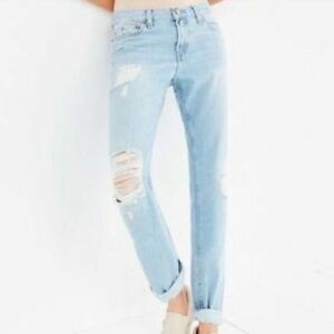 luxury aesthetic elegant shape hot sale online Details about BDG Slim Fit Low Rise Boyfriend Distressed Ripped Jeans