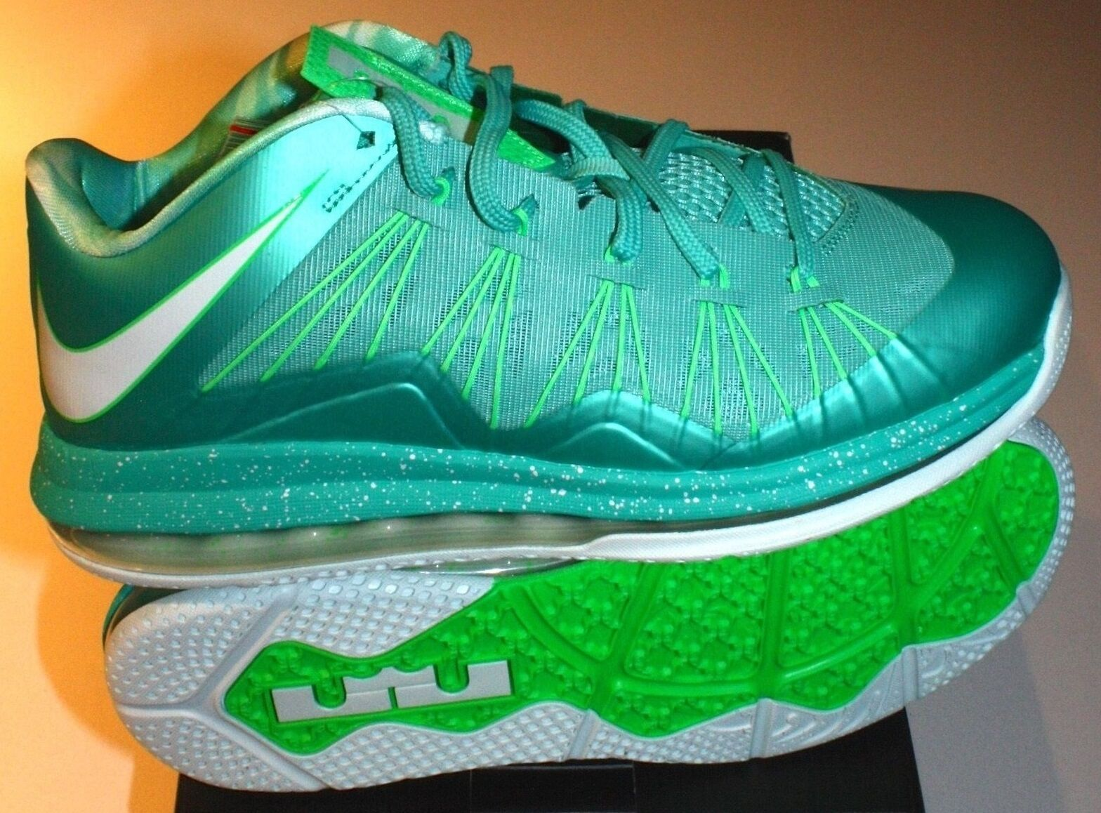 Nike Air Max Lebron X 10 Low EASTER 11.5 US Crystal Mint South Beach ASG Sample