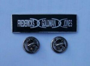 FREDERICKS-GOLDMAN-JONES-FRENCH-MUSIC-TRIO-RARE-1990-ENAMEL-PIN-BADGE