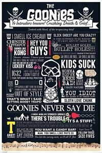 The-Goonies-Infographic-POSTER-61x91cm-NEW-movie-quotes-Never-Say-Die