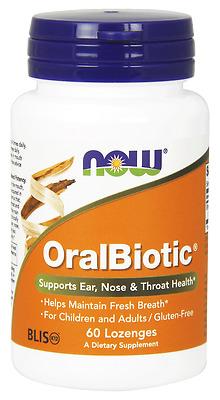 OralBiotic, 60 Lozenges - Now Foods