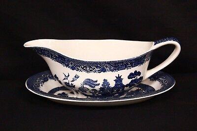 20 x 9 x 7 cm decorazione blu Salsiera in ceramica