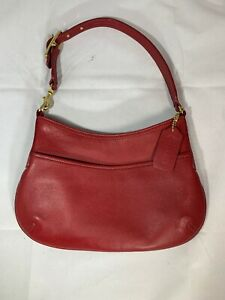 Coach-Small-Red-Leather-Hobo-Bag-F23-9295