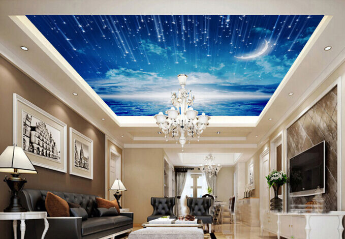 3D Clouds Meteor 744 Ceiling WallPaper Murals Wall Print Decal Deco AJ WALLPAPER